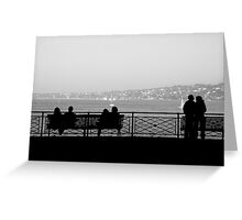 three couples Greeting Card