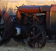 hand crank tractor by Tracy Flugel