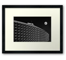 Plaza with moon Framed Print