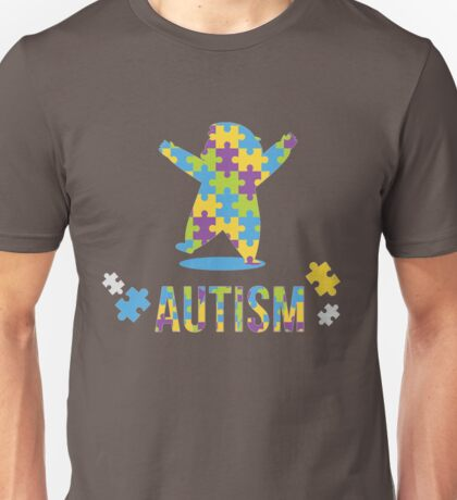 Autism with puzzle pieces for brother, son, grandson Unisex T-Shirt