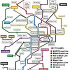 Geeks' Tube Map by Ane Arzelus