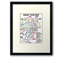 Geeks' Tube Map Framed Print