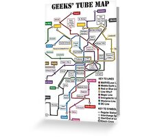 Geeks' Tube Map Greeting Card