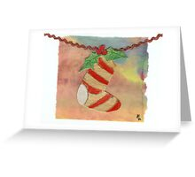 Christmas Sock Collage 5c Greeting Card