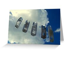 Crystal clear Greeting Card