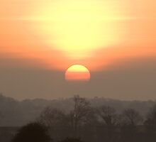 Sunset over the Levels by Stuart Jenkins