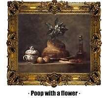 Poop with a flower by ayay