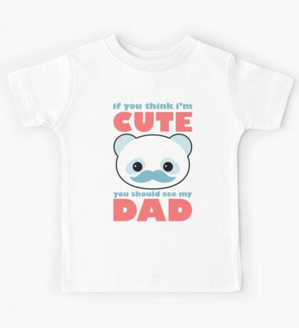 Cute Panda Dad Kids Tee