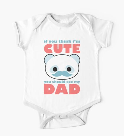 Cute Panda Dad Kids Clothes