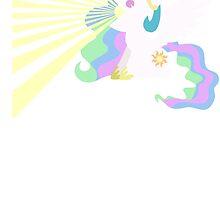 Princess Celestia Sunray Vomit by MegnxNeko