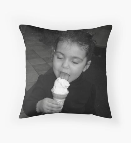 Love - Black and White Throw Pillow