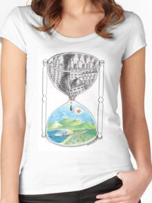 Hourglass Women's Fitted Scoop T-Shirt
