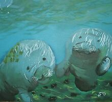 Manatee Love by Saavvvyyyy