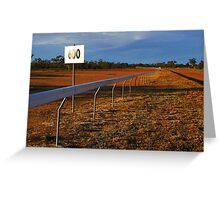 Lightning Ridge Racecourse Greeting Card