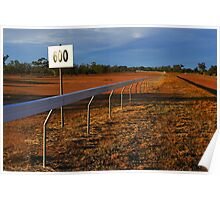 Lightning Ridge Racecourse Poster