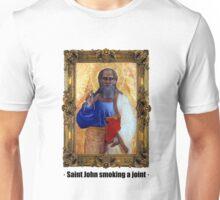Saint John smoking a joint Unisex T-Shirt