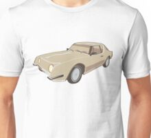 Gold Studebaker Avanti illustration Unisex T-Shirt