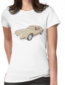 Gold Studebaker Avanti illustration Womens Fitted T-Shirt