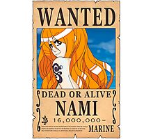 One Piece - Wanted Poster - Nami Photographic Print