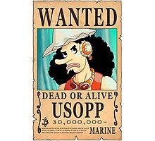 One Piece - Wanted Poster - Usopp Photographic Print