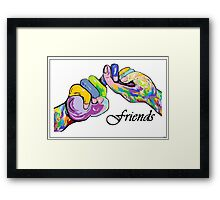 The Sign Language of FRIENDS Framed Print