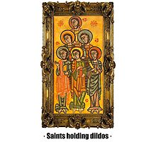 Saints holding dildos by ayay