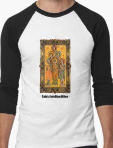 Saints holding dildos Men's Baseball ¾ T-Shirt