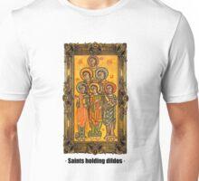 Saints holding dildos Unisex T-Shirt
