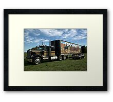 "1974 Kenworth W900A ""Smokey and the Bandit"" Semi Truck Replica Framed Print"