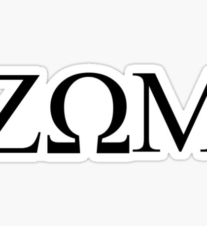 Zeta Omega Mu Sticker