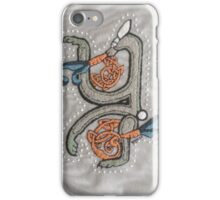 Celtic Rabbit French Knot Embroidery Letter Y iPhone Case/Skin
