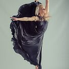Dancer poised on one foot by Brian Edworthy