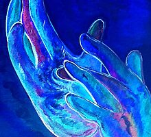 American Sign Language - Jesus - in Blue by EloiseArt
