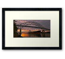 The End of a Voyage Framed Print