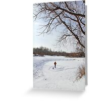 Snow Sign Greeting Card