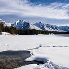 Winter Wonderland Above, Rocky Shores Below by Kristin Repsher