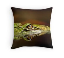 Gator Eyes Throw Pillow