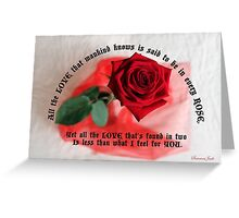 For You with All My Love ~ A Rose Greeting Card