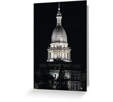 Lansing, MI Capital Building Greeting Card