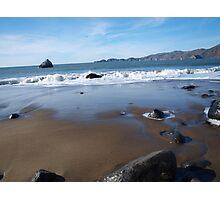 Wet Beach Photographic Print