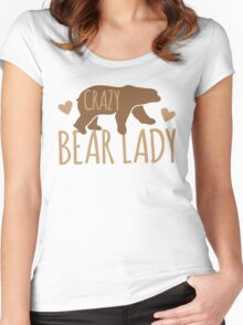 Crazy Bear lady Women's Fitted Scoop T-Shirt