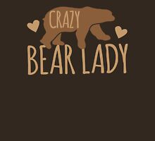 Crazy Bear lady Womens Fitted T-Shirt