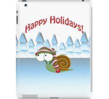 Happy Holidays! Winter Snail iPad Case/Skin