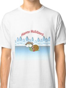 Happy Holidays! Winter Snail Classic T-Shirt