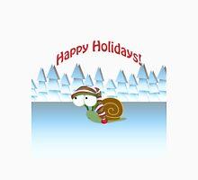 Happy Holidays! Winter Snail Unisex T-Shirt