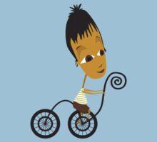 little boy on bike by Wendy Tyrer