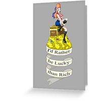Lady Luck Greeting Card