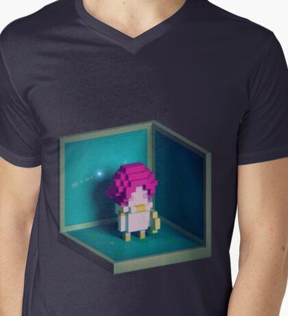 Jester Voxel Mens V-Neck T-Shirt