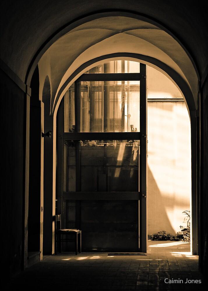 Chair in a hallway by Caimin Jones
