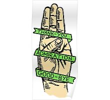 Three Finger Salute Poster